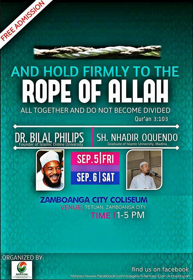 And Hold Firmly to The Rope of Allah and Do Note be Divided